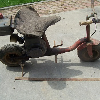 VINTAGE HOMEMADE MINIBIKE-BARN FIND