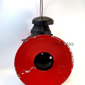 Vintage Railroad Signal Lamp - Railroadiana
