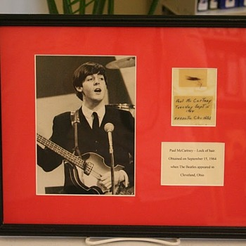 Paul McCartney's hair-1964 - Music Memorabilia