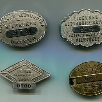 Milwaukee Taxi Driver Badges - Medals Pins and Badges