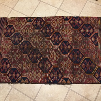 Old antique? Double sided rug  - Rugs and Textiles