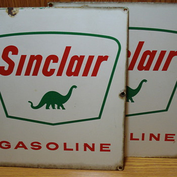 1960s? Sinclair Gasoline Pump Signs - Signs