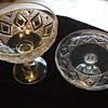 "Grand ""Diamond Medallion"" Pattern Glass- Cake Stand? and Footed Bowl"