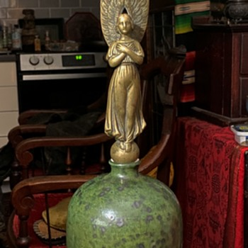 Unusual Bronze Angel - Christmas