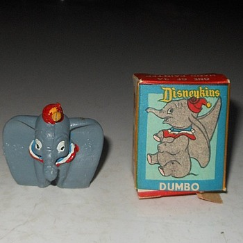 Dumbo Diseykin With Box 1961- Early 1970s - Advertising
