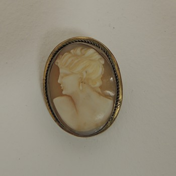 Late 19 Century Cameo - Carved Shell and Metal - Fine Jewelry