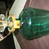 antique green lock and key liquor bottle