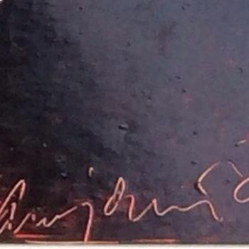 Swedish signature on oil painting