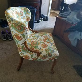 A nice little chair a neighbor gave me.