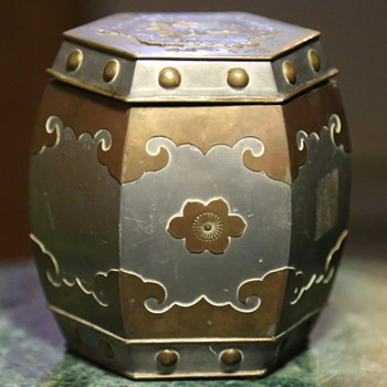 Lead or Zinc Canister from Hong Kong