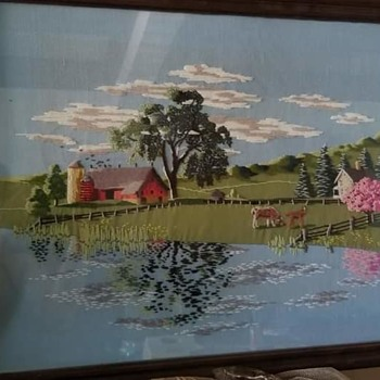 Crewel yarn picture  - Fine Art