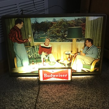 Budweiser light up sign looking for info - Breweriana