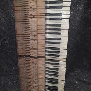 old wooden organ keyboard - Musical Instruments