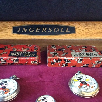 Ingersoll display cabinet and Mickey's - Advertising