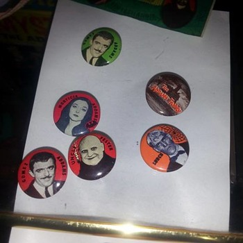 1964 Addams Family Buttons  - Medals Pins and Badges
