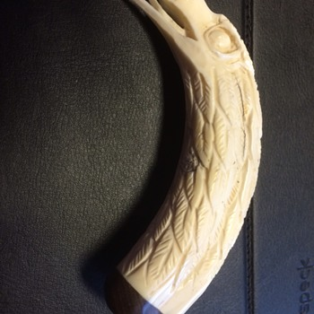 Tusk carving of eagle