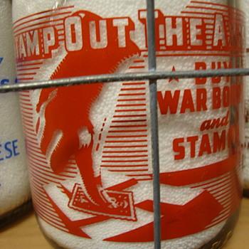 "SANTA CLARA CREAMERY CALIFORNIA ..""STAMP OUT THE AXIS"" WAR SLOGAN MILK BOTTLE - Bottles"