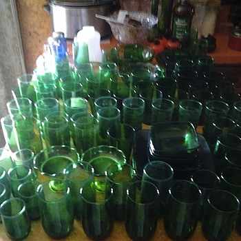 green glass bonanza - Glassware