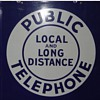 Local and Long Distance Public Telephone 11x11""