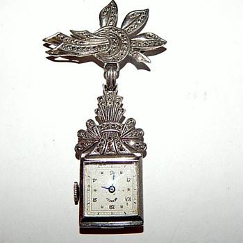 Vintage Lapel Watch Pin - Fine Jewelry
