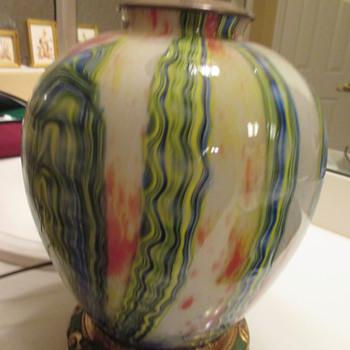 art glass lamp - Lamps