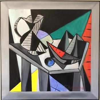 Mid Century Modern Painting - Fine Art