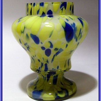 Czech Posy Vase  - Art Glass
