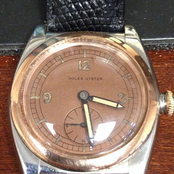 Vintage Rolex Oyster Bubbleback--two tone with rose gold - Wristwatches