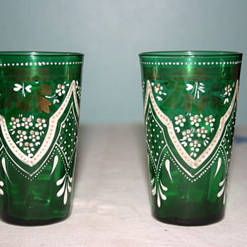 Beautiful Bohemian glasses, but who made them? Crystalex? - Art Glass