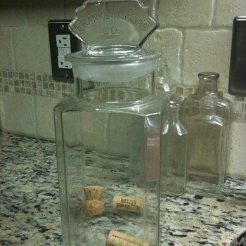 Franklin Caro Co glass candy container - Kitchen