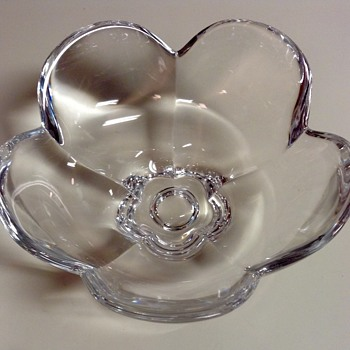 Orrefors Crystal Pomona Bowl by Lars Hellsten  - Art Glass