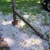 Antique primitive walking plow