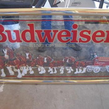Bud Mirror - Breweriana