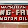 "Macmillan metal embossed sign,15""x52""  circa 1946"