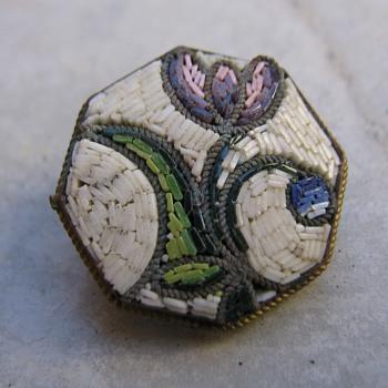 Micro mosiac floral pin - Fine Jewelry