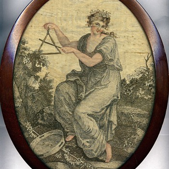 Women's Art: Antique sewing implements and tapestries, 1600s and on  - Sewing
