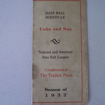 1932 chicago cubs and white sox schedule - Baseball