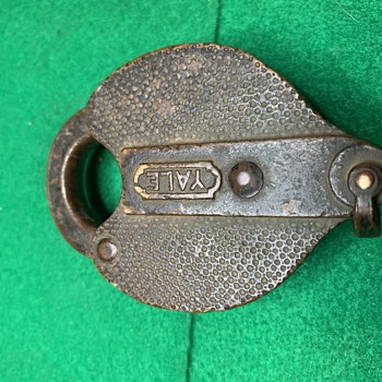 1800s Yale Heart Shaped All Brass Padlock - Tools and Hardware