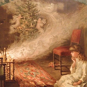 More Victorian Christmas scrap book images  - Victorian Era