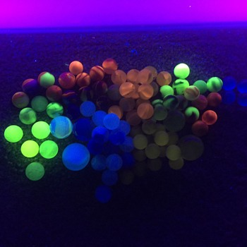 Old Marbles Glow/Blue Light - Art Glass