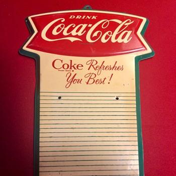 Some of my Coca Cola signs.  - Coca-Cola