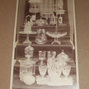 Cabinet card of Photographer's Wife's Glass Collection