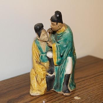 Rare Chinese Mudman and Mudwoman - Asian