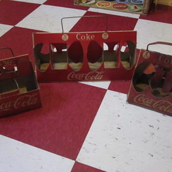 1950's Cardboard Coca-Cola Carriers