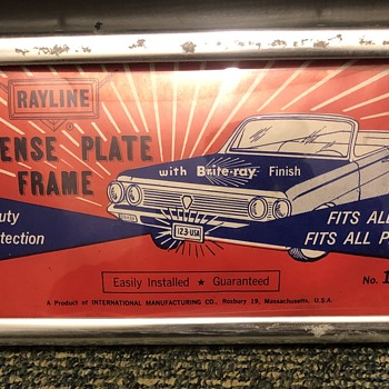 Rayline License Plate Frame No.  164 vintage  - Classic Cars