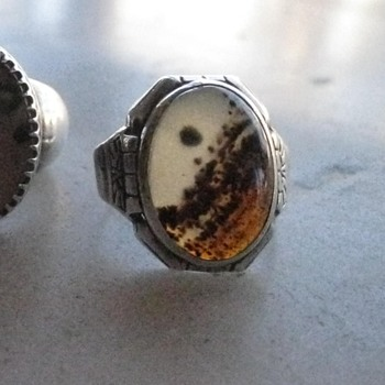 Montana agate men's rings - part 2 - and tie clip