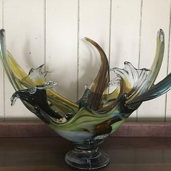 Strange Art Glass Bowl - Art Glass