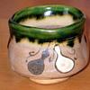 Japanese guinomi (sake cup) with gourd design by SASAKI Tadashi