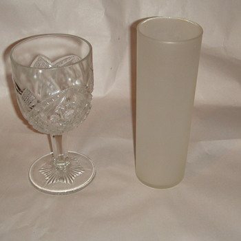 "Glassware- Very important tall one measures 2 1/2 across 7"" ht.  - Glassware"