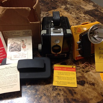 My Mom's Brownie Hawkeye Flash Model Camera